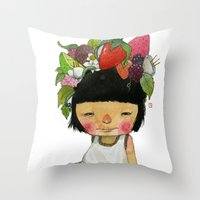 spring Throw Pillows featuring Spring  by Young Ju