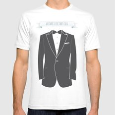 Welcome to the fancy club MEDIUM Mens Fitted Tee White