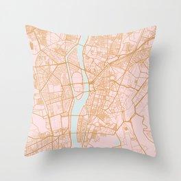 Cairo map, Egypt Throw Pillow