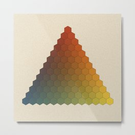 Lichtenberg-Mayer Colour Triangle vintage variation, Remake of Mayers original idea of 12 chambers Metal Print