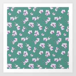 Mom's Orchids (Green) Art Print