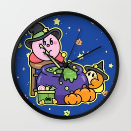 Kirby Witchy Pumpkin Spice Potion Wall Clock