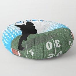 Football Player Floor Pillow