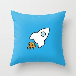 The Rocket Throw Pillow
