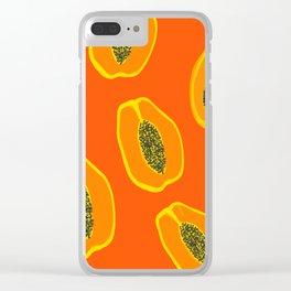 Sarah - papaya Clear iPhone Case