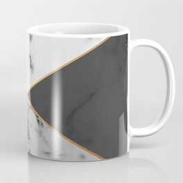 Geometric marble & copper Coffee Mug