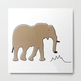 migratory elephant Metal Print
