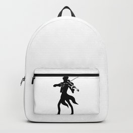 black and white fiddler on the roof, violinist Backpack