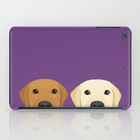 lab iPad Cases featuring Tan Lab & Yellow Lab by Anne Was Here