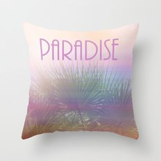 Paradise I Throw Pillow