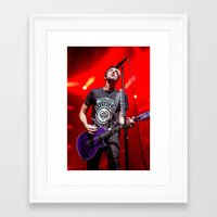 all time low Framed Art Prints featuring All Time Low by Ashton Garner