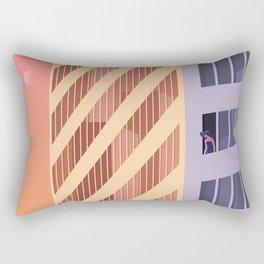 The Blue Hat Girl / Sunset Rectangular Pillow
