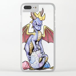 Purple Hero Clear iPhone Case