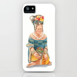 Mesoamerican Seated Woman iPhone Case