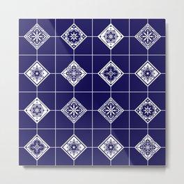 Talavera Mexican Tile – Porcelain Palette Metal Print