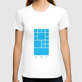Windows Phone 8 Grid - Blue T-shirt
