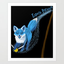 Expecto Patronum Fox Art Print