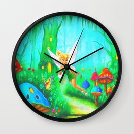 Tinkerbell's Flight Wall Clock
