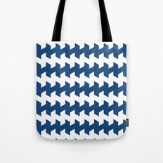 jaggered and staggered in monaco blue Tote Bag