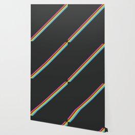 Aigikampoi - Thin Stripes on Black Wallpaper