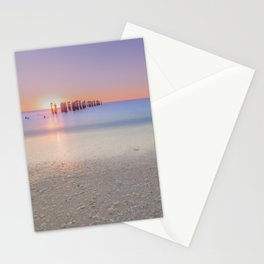 Naples Beach Sunset at 3rd Ave Stationery Cards