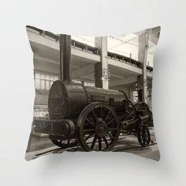 Stephenson's Rocket Throw Pillow