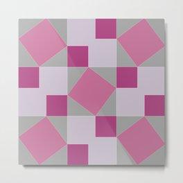 Pythagoras Pinks Metal Print