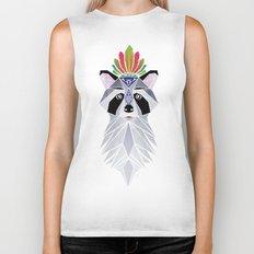 raccoon spirit Biker Tank