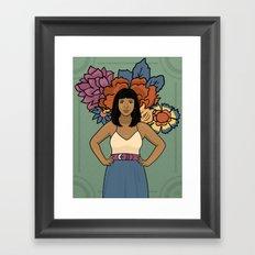 Dala & Flowers Framed Art Print