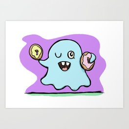 Is That More Food? The Elusive Donut Ghost. Art Print