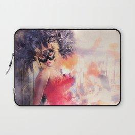 Painted Fan Dancer - Dressing Room Break Laptop Sleeve