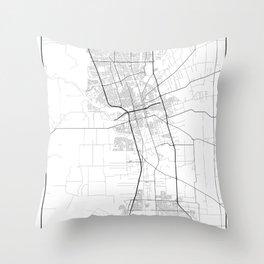Minimal City Maps - Map Of Stockton, California, United States Throw Pillow