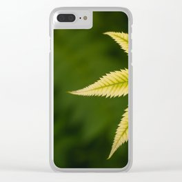 Plant Patterns - Leafy Greens Clear iPhone Case