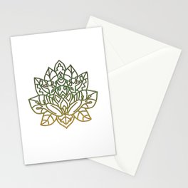 Frog Mandala Stationery Cards