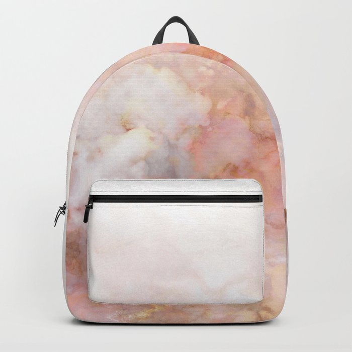 Beautiful Pink and Gold Ombre marble under snow Backpack
