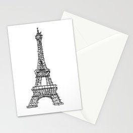 Eiffel Tower Graphic Pen Sketch Stationery Cards