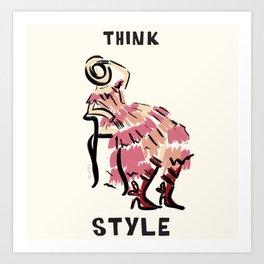 Think Style Art Print