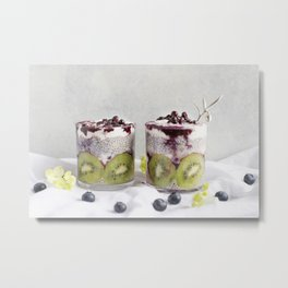 chia pudding Metal Print