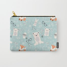 Christmas polar animals pattern 001 Carry-All Pouch