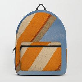 Orange blue sky Backpack