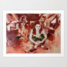 Alone Amongst Friends Art Print