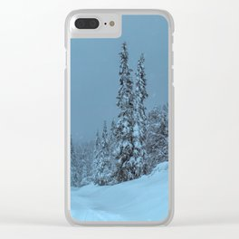 winter in idre fjall sweden Clear iPhone Case