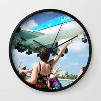 airplane Wall Clocks featuring Airplane! by Noah Bolanowski