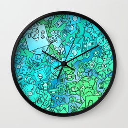 Technology Psychedelic Cold Wall Clock