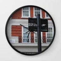 221b Wall Clocks featuring 221B by Sandrine Bandura