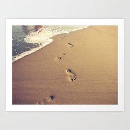 Foot Prints Art Print