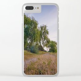 willow near country road Clear iPhone Case