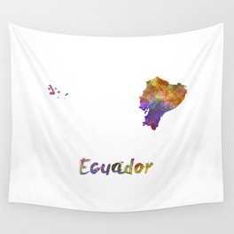 Ecuador in watercolor Wall Tapestry