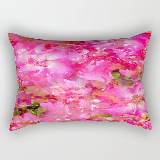 Bright And Cheery Geranium Abstract Rectangular Pillow