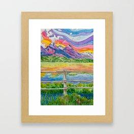 Vibrant Mountains Framed Art Print
